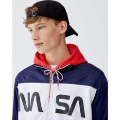 Bluza NASA z suwakiem. Czerwone bluzy męskie rozpinane marki KALENJI, m, z elastanu, z długim rękawem, długie. Za 109,00 zł.