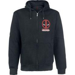 Bejsbolówki męskie: Deadpool Logo Bluza z kapturem rozpinana czarny