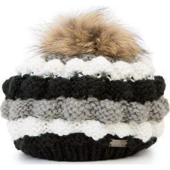 Czapka damska 87-HF-033-X. Czarne czapki zimowe damskie marki Wittchen, na zimę, z dzianiny. Za 139,00 zł.