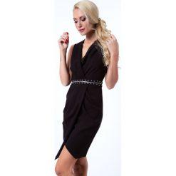 Sukienki: Sukienka z suwakiem czarna G5022