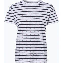 Marie Lund - T-shirt damski, niebieski. Niebieskie t-shirty damskie marki Marie Lund, l, z haftami. Za 89,95 zł.