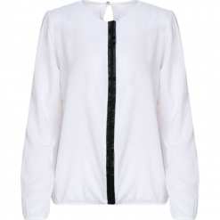 Biała Koszula Warmly. Białe koszule damskie Born2be, l, z tkaniny, z okrągłym kołnierzem, z długim rękawem. Za 59,99 zł.