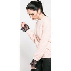 Vero Moda - Bluza. Szare bluzy damskie marki Vero Moda, l, z bawełny, bez kaptura. W wyprzedaży za 69,90 zł.