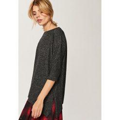 Swetry damskie: Asymetryczny sweter - Szary