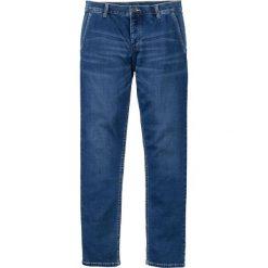"""Dżinsy dresowe chino Slim Fit Straight bonprix Niebieski """"stone"""" Used. Niebieskie jeansy męskie relaxed fit bonprix, z dresówki. Za 79,99 zł."""