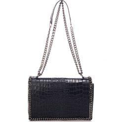 Torebki klasyczne damskie: Skórzana torebka w kolorze czarnym - 30 x 20 x 10 cm