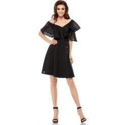 Sukienka koktajlowa na jedno ramię czarna CASSIDY. Czarne sukienki letnie marki Lemoniade, na co dzień, s, street. Za 169,90 zł.