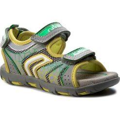 Sandały GEOX - J Sand.Pianeta A J7264A 011FE C0666 Grey/Lime. Szare sandały męskie skórzane marki Geox. W wyprzedaży za 149,00 zł.