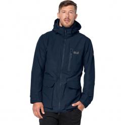 """Kurtka funkcyjna """"Henderson"""" w kolorze granatowym. Czarne kurtki męskie marki Jack Wolfskin, l, z poliesteru, z kapturem. W wyprzedaży za 521,95 zł."""