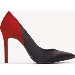 Szpilki: NA-KD Shoes Satynowe szpilki Block Color – Black,Red,Multicolor