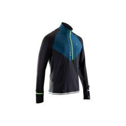 Bluza długi rękaw do biegania KIPRUN WARM REGUL męska. Czarne bluzy męskie rozpinane marki Cropp, l, z polaru, z kapturem. Za 119,99 zł.