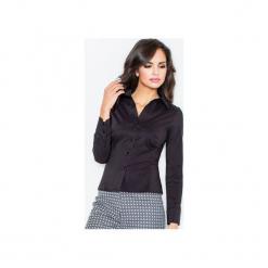 Koszula M021 Czarny. Czarne koszule damskie FIGL, m, z bawełny, klasyczne, z klasycznym kołnierzykiem, z długim rękawem. Za 73,00 zł.