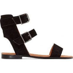 Rzymianki damskie: Sandały na płaskim obcasie z podwójnym paskiem