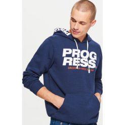 Bluza kangurka z kolekcji PROGRESS - Granatowy. Czerwone bluzy męskie rozpinane marki KALENJI, m, z elastanu, z długim rękawem, długie. Za 129,99 zł.