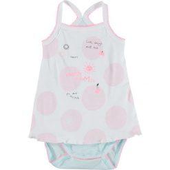 Body niemowlęce: Body w kolorze biało-turkusowo-jasnoróżowym