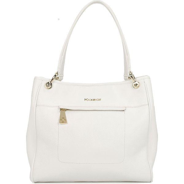 8e7c3254c963e Biała torebka na ramię - Białe torebki klasyczne damskie Kazar