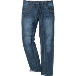 """Jeansy męskie: Dżinsy Regular Fit Straight bonprix ciemnoniebieski """"stone used"""""""