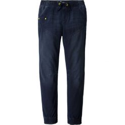 """Miękkie dżinsy bonprix ciemnoniebieski """"stone"""". Niebieskie jeansy męskie z dziurami marki bonprix, z dresówki. Za 99,99 zł."""