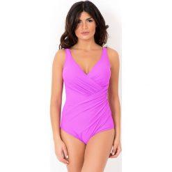 Stroje kąpielowe damskie: Włoski jednoczęściowy modelujący kostium kąpielowy Miradonna MI8004AME
