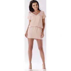 Jasno Różowa Sukienka z Dekoltem na Plecach. Różowe sukienki letnie marki numoco, l, z dekoltem w łódkę, oversize. Za 119,90 zł.