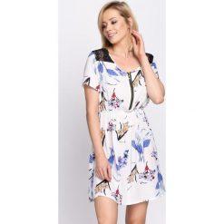Sukienki: Biało-Niebieska Sukienka Dreamboat
