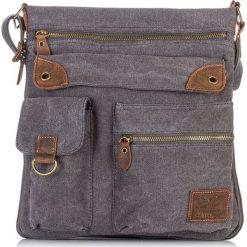 Czarna Torba męska na ramię Harold's. Czarne torby na ramię męskie Harold's, w paski, z materiału, do ręki. Za 129,90 zł.
