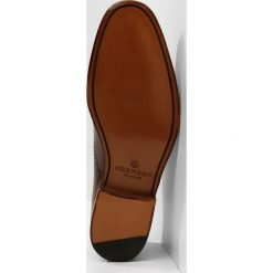 Buty wizytowe męskie: Grenson MATTHEW Eleganckie buty dark brown handpainted