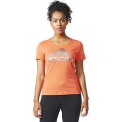 Bluzki asymetryczne: Adidas Koszulka damska BOS FOIL pomarańczowa r. XS (CD1955)