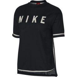 Koszulka Nike Wmns NSW Top SS Mesh (893673-010). Czarne bluzki asymetryczne Nike, z materiału. Za 89,99 zł.