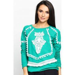 Bluzy damskie: Zielona Bluza Pocahontas
