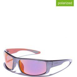 Okulary przeciwsłoneczne męskie lustrzane: Okulary męskie w kolorze szaro-pomarańczowym