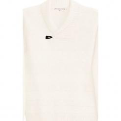 Sweter kaszmirowy w kolorze kremowym. Białe swetry klasyczne męskie Ateliers de la Maille, l, z kaszmiru. W wyprzedaży za 682,95 zł.