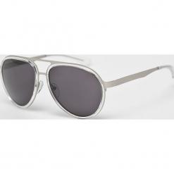 Calvin Klein - Okulary CKJ135S. Brązowe okulary przeciwsłoneczne męskie aviatory Calvin Klein, z materiału. Za 579,90 zł.
