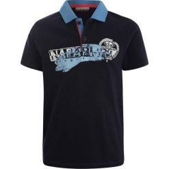 Napapijri ENI Koszulka polo blu marine. Niebieskie bluzki dziewczęce bawełniane marki Napapijri. Za 169,00 zł.