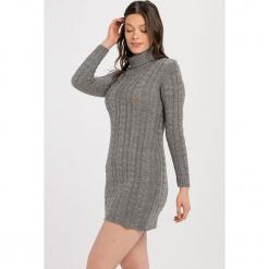 Sweter w kolorze szarym. Szare golfy damskie Jimmy Sanders, l, ze splotem. W wyprzedaży za 137,95 zł.
