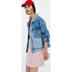 Bomberki damskie: Luźna jeansowa kurtka