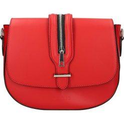 """Torebki klasyczne damskie: Skórzana torebka """"Seine"""" w kolorze czerwonym – 25 x 20 x 6,5 cm"""