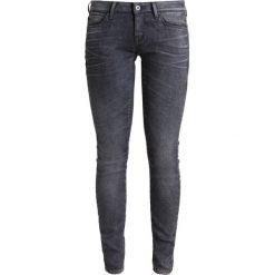 GStar 3301 LOW SKINNY  Jeans Skinny Fit loomer grey stretch denim. Szare rurki damskie G-Star. W wyprzedaży za 479,20 zł.