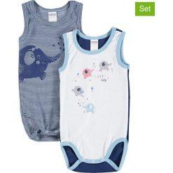 Body niemowlęce: Body (2 szt.) w kolorze granatowym i białym