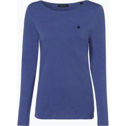 Marc O'Polo - Damska koszulka z długim rękawem, niebieski. Niebieskie t-shirty damskie Marc O'Polo, l, z bawełny, polo. Za 129,95 zł.