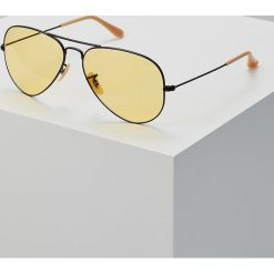 RayBan AVIATOR Okulary przeciwsłoneczne black/photo yellow. Czarne okulary przeciwsłoneczne damskie aviatory Ray-Ban. Za 719,00 zł.