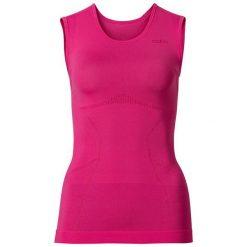 Bluzki sportowe damskie: Odlo Koszulka damska Singlet crew neck Evolution Light różowa r. S (181021)