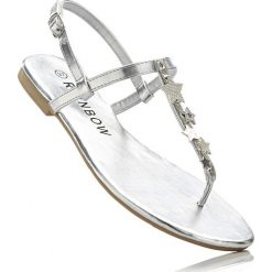 Sandały japonki bonprix srebrny. Szare klapki damskie marki bonprix. Za 59,99 zł.