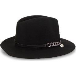 Kapelusz GUESS - AW7880 WOL01 BLA. Czarne kapelusze damskie Guess, z materiału. Za 229,00 zł.