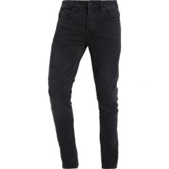 Only & Sons ONSWARP RAW EDGE Jeans Skinny Fit black denim. Brązowe jeansy męskie marki Only & Sons, l, z poliesteru. Za 129,00 zł.