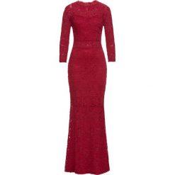 Sukienki: Sukienka koronkowa bonprix ciemnoczerwony