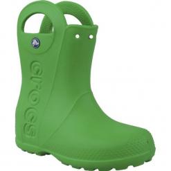 Buty dziecięce Handle Rain Boot zielone r. 34-35 (12803). Zielone buciki niemowlęce marki Crocs. Za 108,26 zł.
