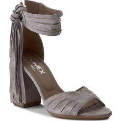 Rzymianki damskie: Sandały ANN MEX – 7904 11W Szary