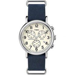 Zegarek Timex Męski TW2P62100 Weekender Chrono niebieski. Niebieskie zegarki męskie Timex. Za 375,99 zł.