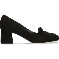Czółenka ERI. Czarne buty ślubne damskie Gino Rossi, ze skóry, na słupku. Za 234,95 zł.